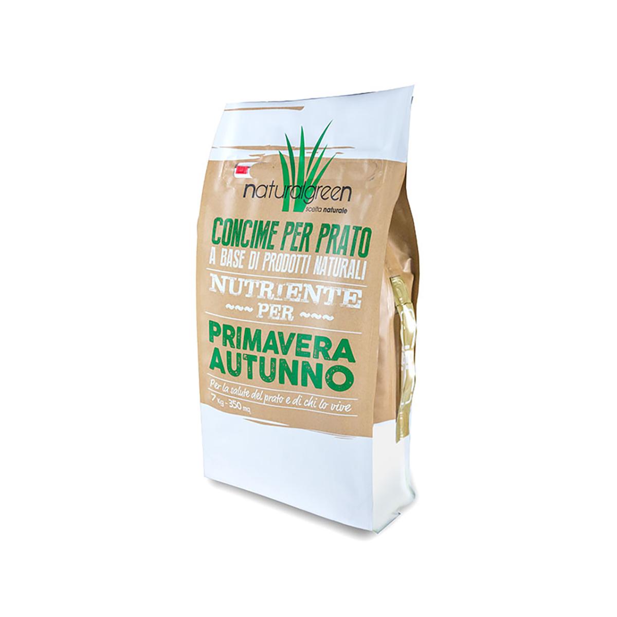 Concime Per Prato Autunnale bottos concime naturalgreen primavera e autunno 18-0-7 kg 7